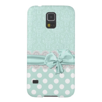 Mint Green Damask Samsung Galaxy S5 Phone Case