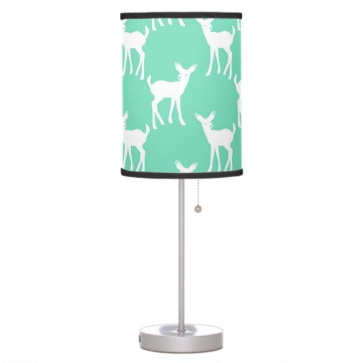 Mint Green Deer Pattern Desk Lamp Zazzle