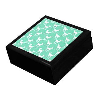 Mint Green Deer Pattern Gift Box