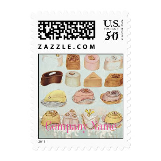 mint green dessert cookies candy chocolate postage