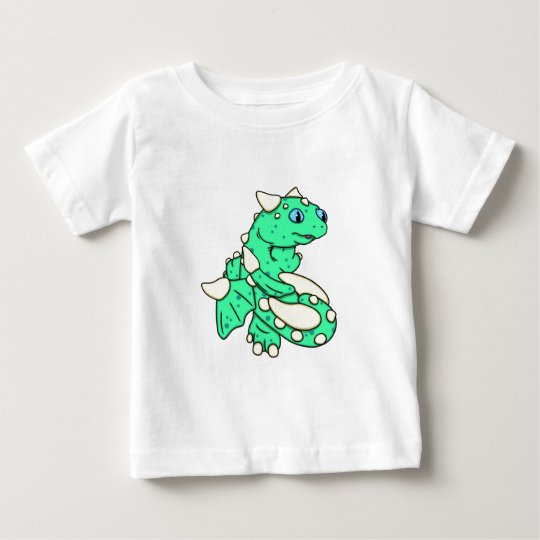 Mint Green Dragon by Carrie Michael Baby T-Shirt