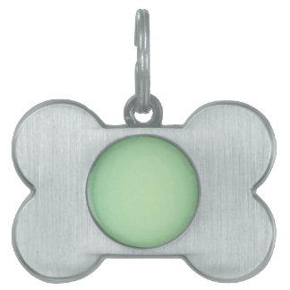 Mint Green Elegant Pattern. Fashion Color Trend Pet Name Tag