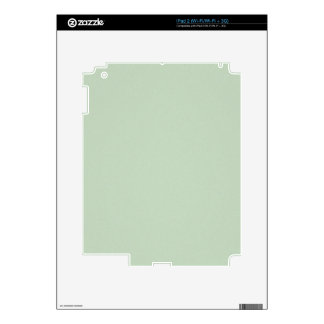 Mint Green Elegant Pattern. Fashion Color Trend iPad 2 Decals