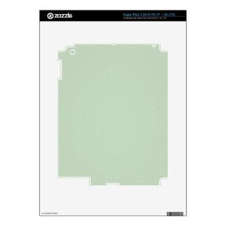 Mint Green Elegant Pattern. Fashion Color Trend iPad 3 Decal