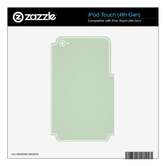 Mint Green Elegant Pattern. Fashion Color Trend iPod Touch 4G Skins