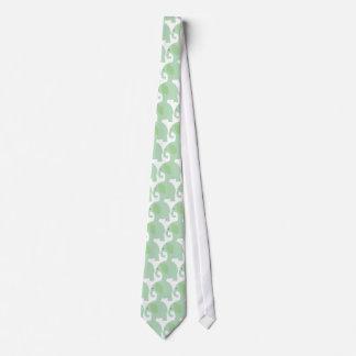 Mint Green Elephant Tie