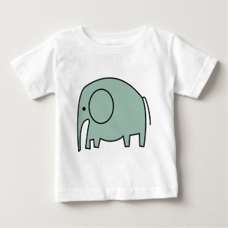 MINT GREEN ELEPHANTS BABY T-Shirt