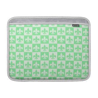 Mint Green Fleur de lis MacBook Air Sleeves