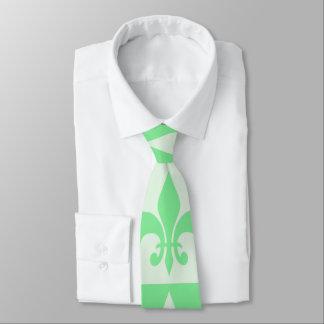 Mint Green Fleur de lis Tie
