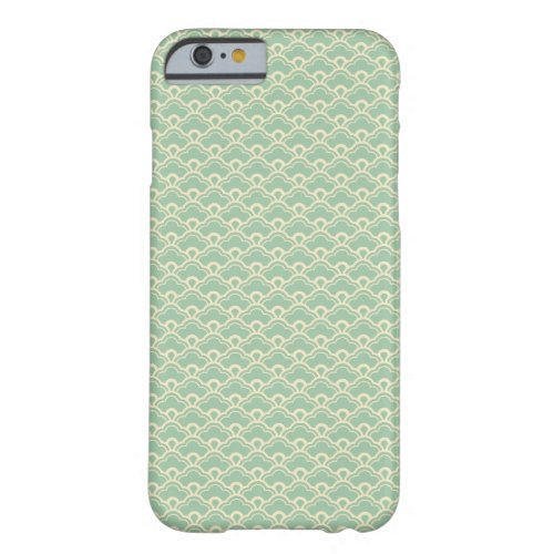 Mint green floral abstract girly art deco pattern Phone Case