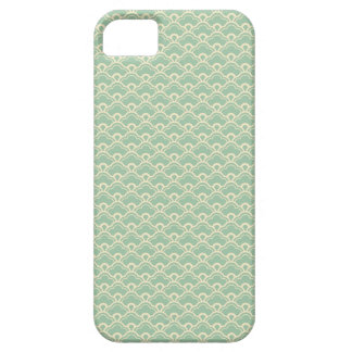 Mint green floral abstract girly art deco pattern iPhone 5 cover