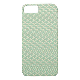 Mint green floral abstract girly art deco pattern iPhone 7 case