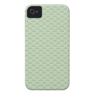 Mint green floral abstract girly vector pattern Case-Mate iPhone 4 cases