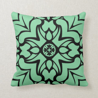 Mint green floral scatter cushion