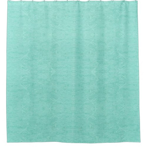 Mint Green Floral Shower Curtain