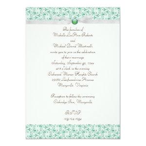 Mint Green Florentine Wedding Invitation 5