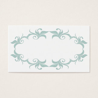 Mint Green Flourish Wedding Place Cards