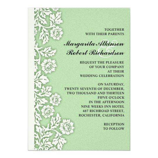 Mint Invitations Wedding: Mint Green Flourishes Pretty Wedding Invitations