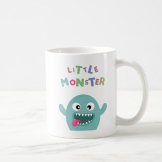 Mint Green Funny Little Monster Coffee Mug