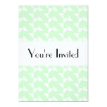 "Mint Green Geometric Abstract Pattern. 5"" X 7"" Invitation Card"