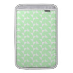 Mint Green Geometric Abstract Pattern. MacBook Sleeves