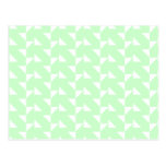 Mint Green Geometric Abstract Pattern. Postcard