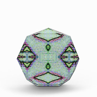 Mint Green Geometric Pattern Award