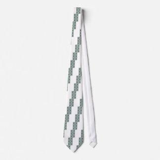 Mint Green Geometric Pattern Tie