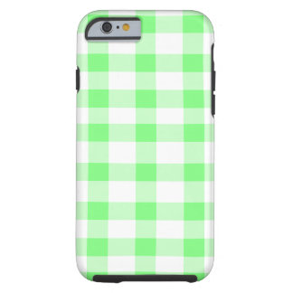 Mint Green Gingham Tough iPhone 6 Case