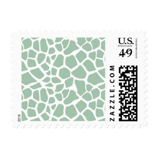 Mint Green Giraffe Print Stamps