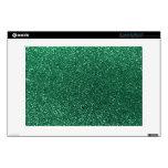 "Mint green glitter 13"" laptop skin"