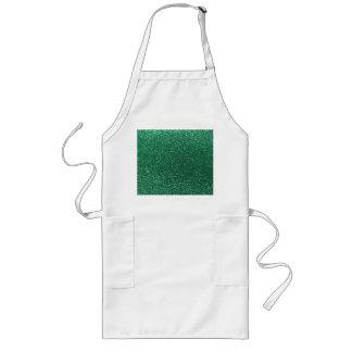 Mint green glitter aprons