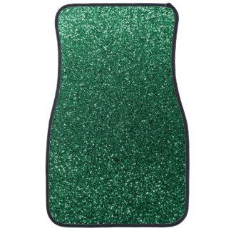 Mint green glitter car floor mat