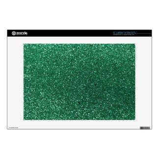 """Mint green glitter 13"""" laptop decals"""