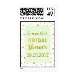 Mint Green Gold Confetti Bridal Shower Stamp