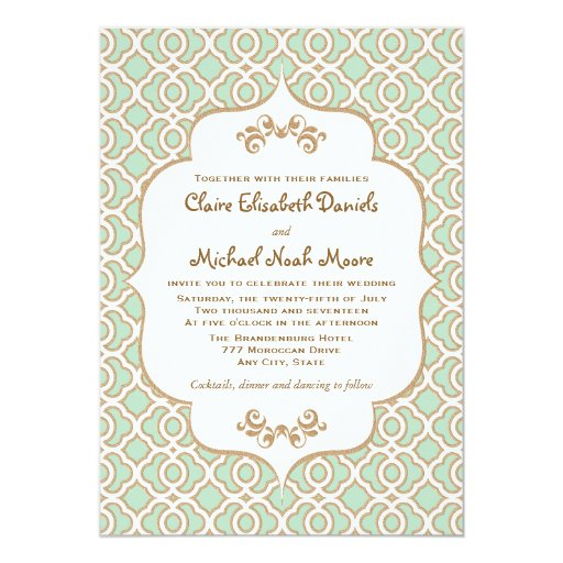 Mint And Gold Wedding Invitations was very inspiring ideas you may choose for invitation ideas
