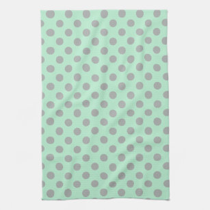Modern Polka Dots Kitchen Hand Towels Zazzle