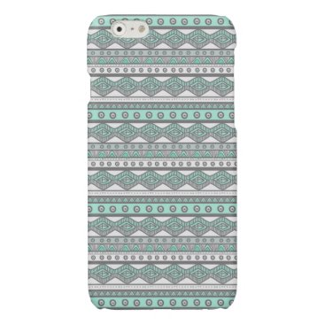 Aztec Themed Mint Green Gray White Aztec Savvy iPhone 6 Case
