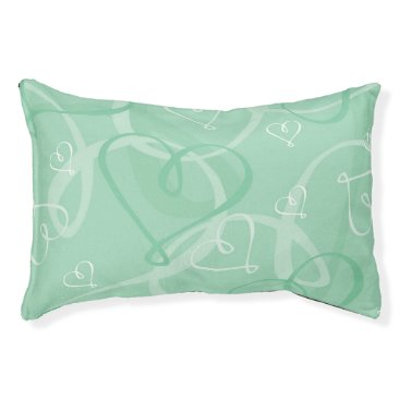 Bride Themed Mint green heart pattern pet bed