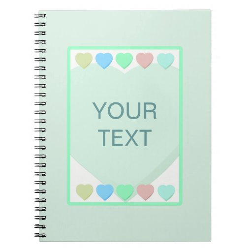 Mint Green Hearts Baby Shower Notebook Zazzle