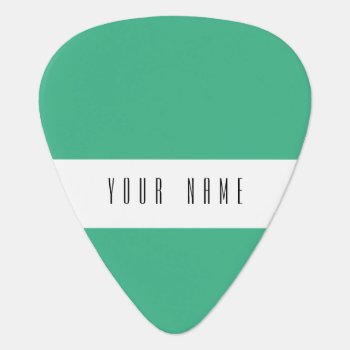 Mint Green High End Colored Guitar Pick by GraphicsByMimi at Zazzle