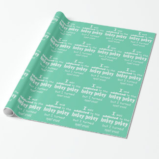 Mint Green Hokey Pokey Internet Memes Wrapping Paper