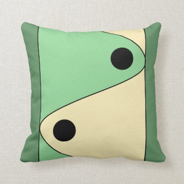 sterlingnights Mint Green Ivory Geometric Throw Pillow