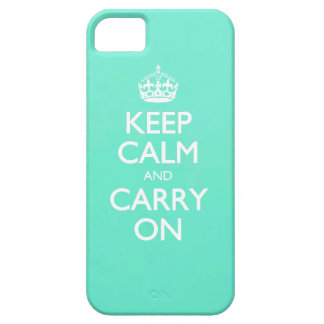 Mint Green Keep Calm And Carry On Pattern iPhone 5 Covers