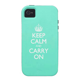 Mint Green Keep Calm And Carry On Pattern Vibe iPhone 4 Covers