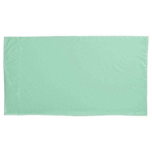 Mint Green King Sized Single Pillowcase