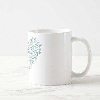 Mint Green Lace Heart Coffee Mugs
