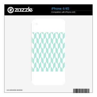 Mint Green Large Offset Chevrons Decals For The iPhone 4