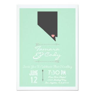 Mint Green Las Vegas Nevada Wedding Invitation