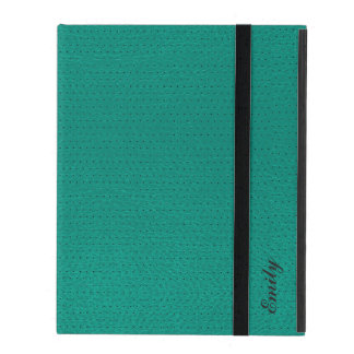 Mint-Green Leather Won-Out Look Monogram iPad Cover